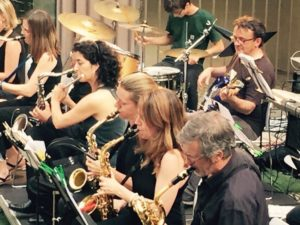 música, orquesta, big band