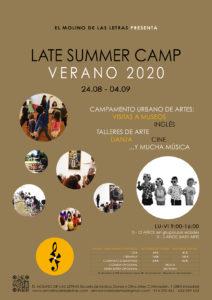 Campamento Urbano de Artes 2020, Verano en El Molino de Las Letras, Escuela de Música, Danza y otras Artes en el corazón de Madrid. Late Summer Camp