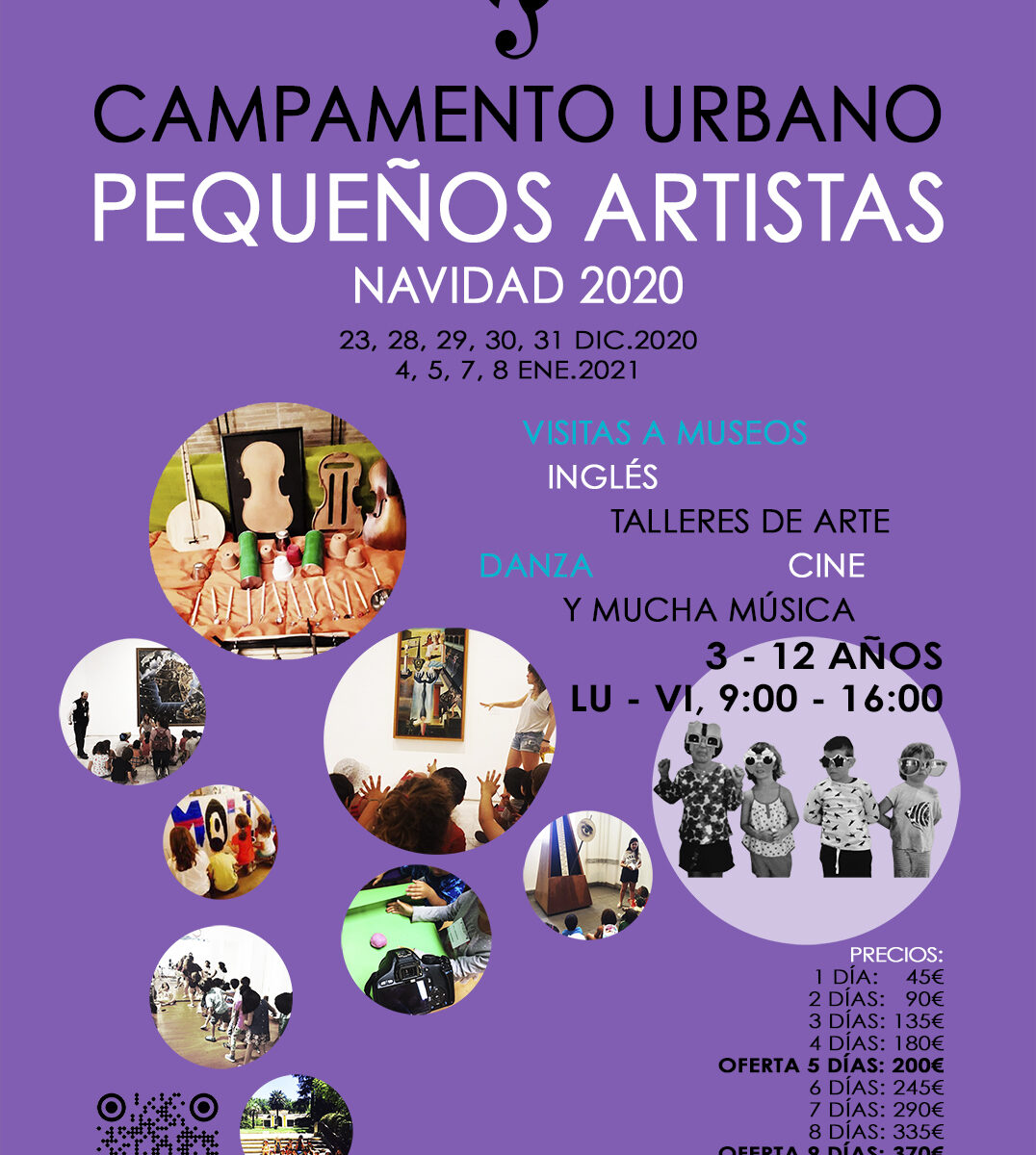 Campamento urbano de artes, navidad 2020, El Molino de Las Letras, en el corazón de Madrid