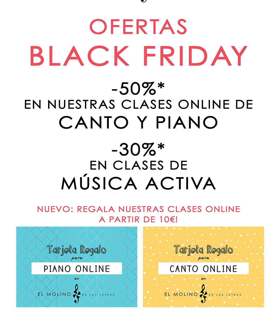 ofertas Black Friday en el molino de las letras, Madrid