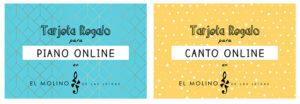 tarjeta regalo clases de piano online El Molino de Las Letras Madrid Escuela de Música y otras Artes