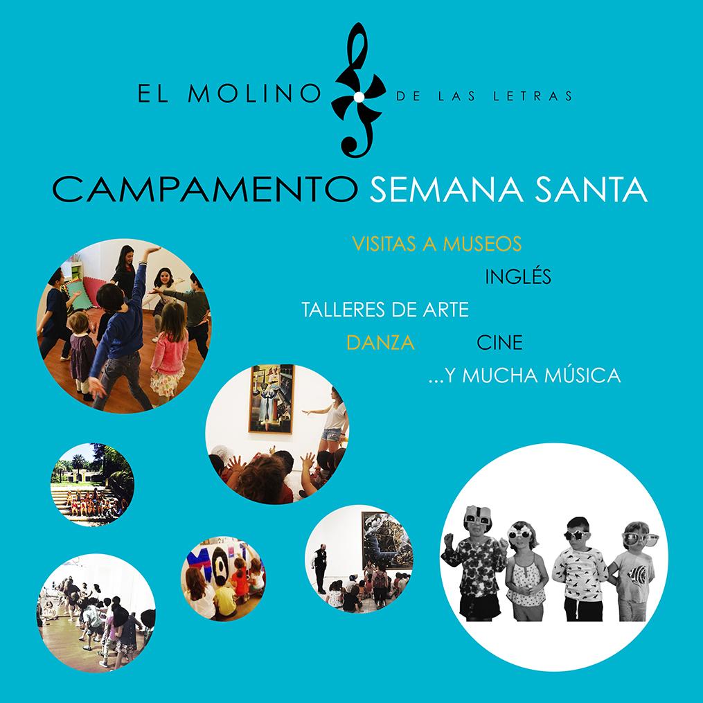 Campamento urbano de artes, Semana Santa, El Molino de Las Letras, en el corazón de Madrid