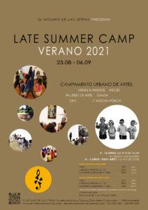 campamento urbano en septiembre, Madrid, El Molino de Las Letras