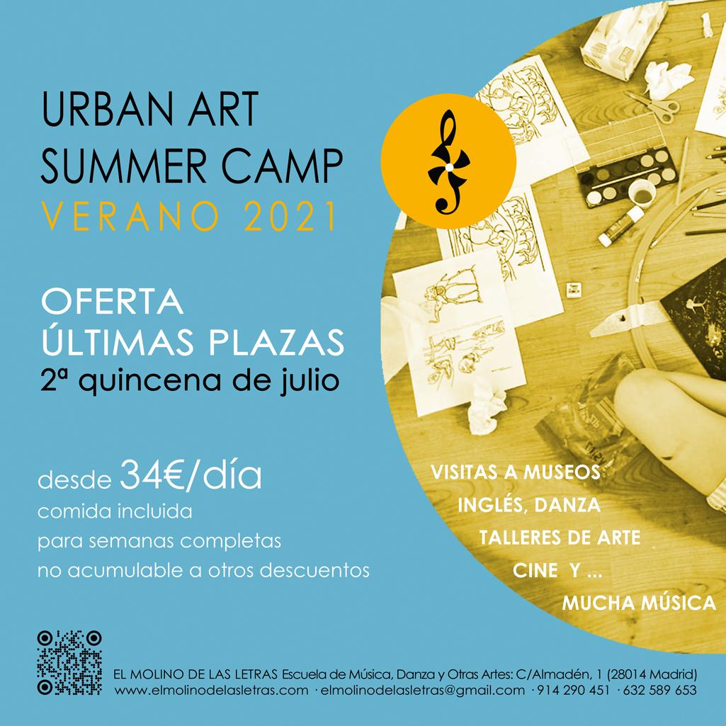 Urban Art Summer Camp - verano 2021 - segunda quincena de julio